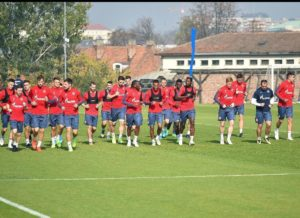 Ghanaian striker Boakye-Yiadom resumes training ahead of Proleter Novi Sad clash