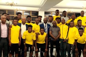 GFA President pays a courtesy visit to Black Meteors ahead of their AFCON Campaign