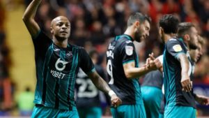 Dede Ayew elated after netting his third championship goal for Swansea City