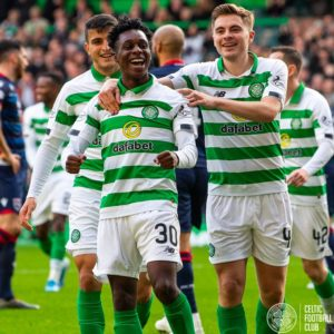 Celtic fans impressive with Ghanaian prodigy Jeremie Frimpong performance against Ross County