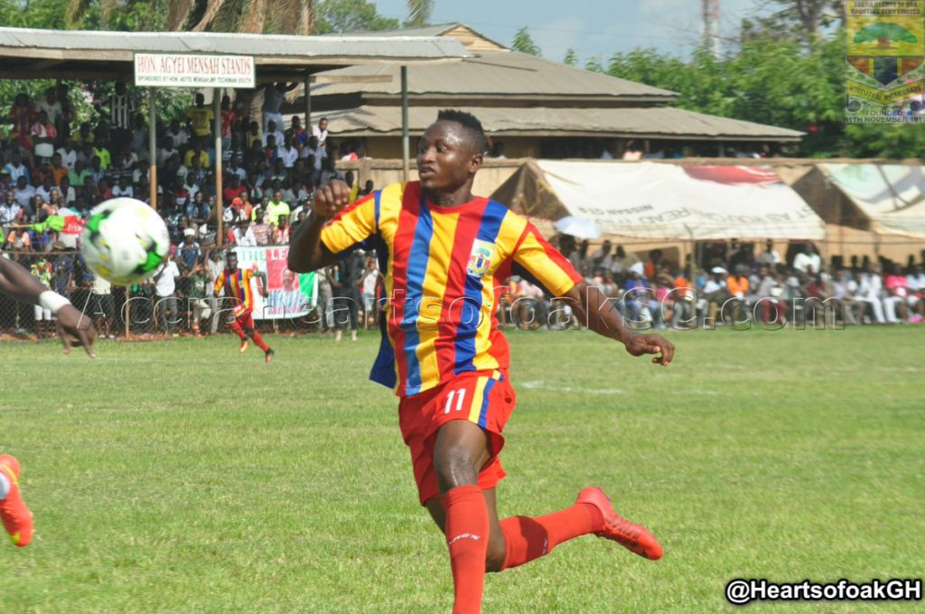 Hearts striker Joseph Esso on the radar of French and Serbian clubs