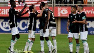 Ghanaian forward Kwabena Owusu scores in Cordoba's 2-2 draw with Algeciras