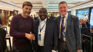 Tottenham Hotspur host Dr. Mahamudu Bawumia for NFL match in London