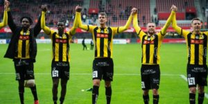 Kwame Kizito finds the back of the net in BK Hacken's victory over Helsingborg