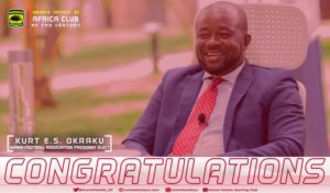 Asante Kotoko congratulates Kurt Okraku