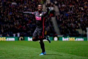 Eddie Nketiah elated after scoring in Leeds United's draw with Preston