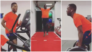Royal Antwerp defender Daniel Opare hits the gym as he recovers from knee injury