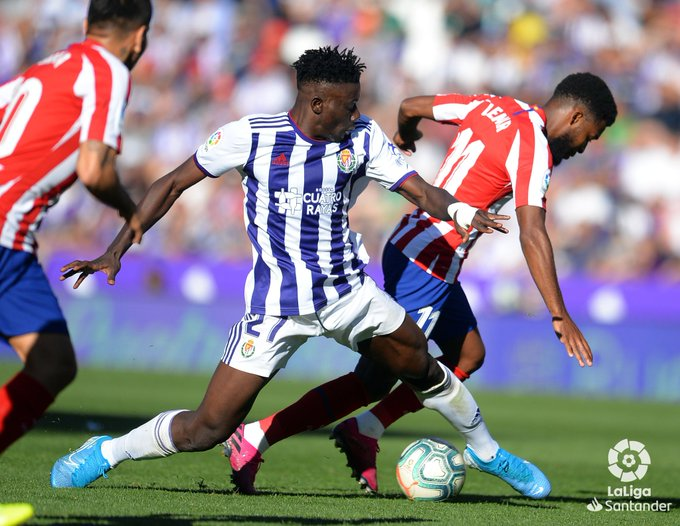 Ghana center-back Mohammed Salisu emerge as Real Valladolid's 'Man of the Match' against Atl. Madrid