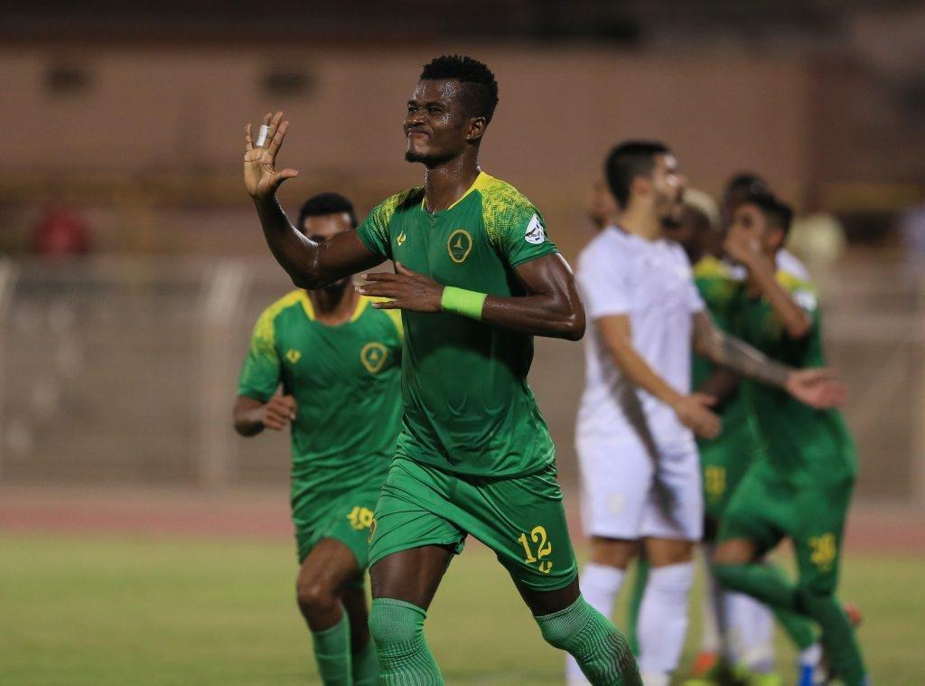 Samuel Sarfo scores in Al Khaleej's 3-2 defeat to Najran SC