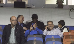 Dwamena watch on from the stands as Real Zaragoza lost 2-1 to CD Mirandés