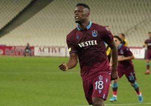 Trabzonspor handed injury boost as Ghanaian striker Caleb Ekuban nears return