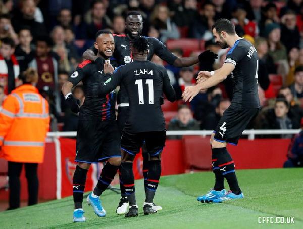 Ghanaian striker Jordan Ayew, Zaha outshine Arsenal's Aubameyang
