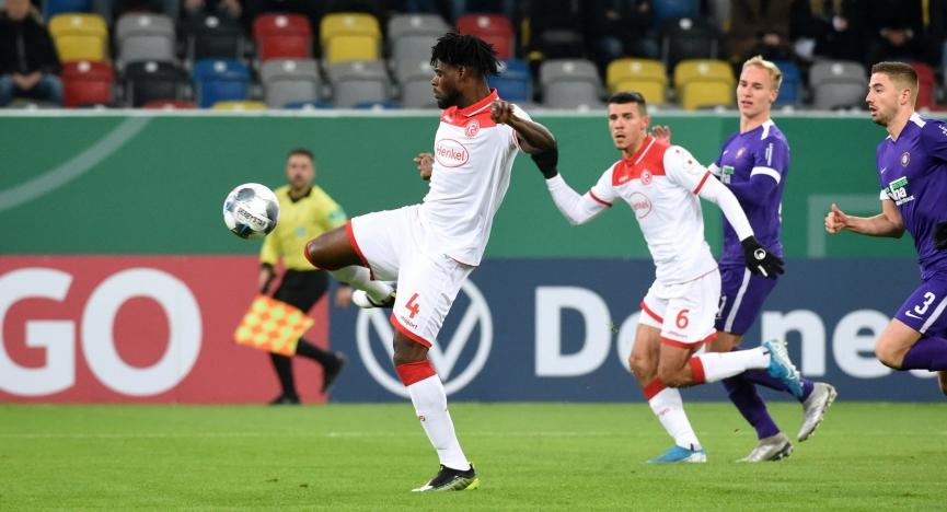 VIDEO: Ghanaian defender Kassim Adams nets for Fortuna Dusseldorf in DFB Pokal