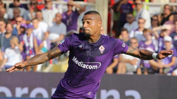 Ghanaian midfielder Kevin-Prince Boateng features as Fiorentina beat Sassuolo