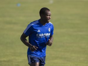 Real Zaragoza staff and players send support and encouragement to Raphael Dwamena