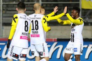Ghanaian youngster Samuel Tetteh scores as LASK Linz beat SV Mattersburg