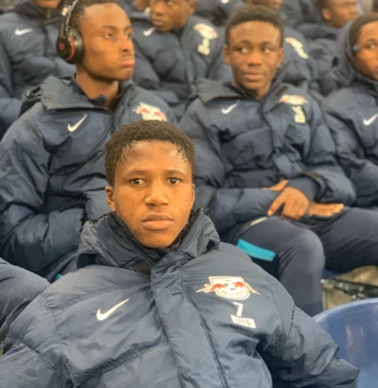 PHOTOS: WAFA U18 attend RB Salzburg and Napoli clash in UCL