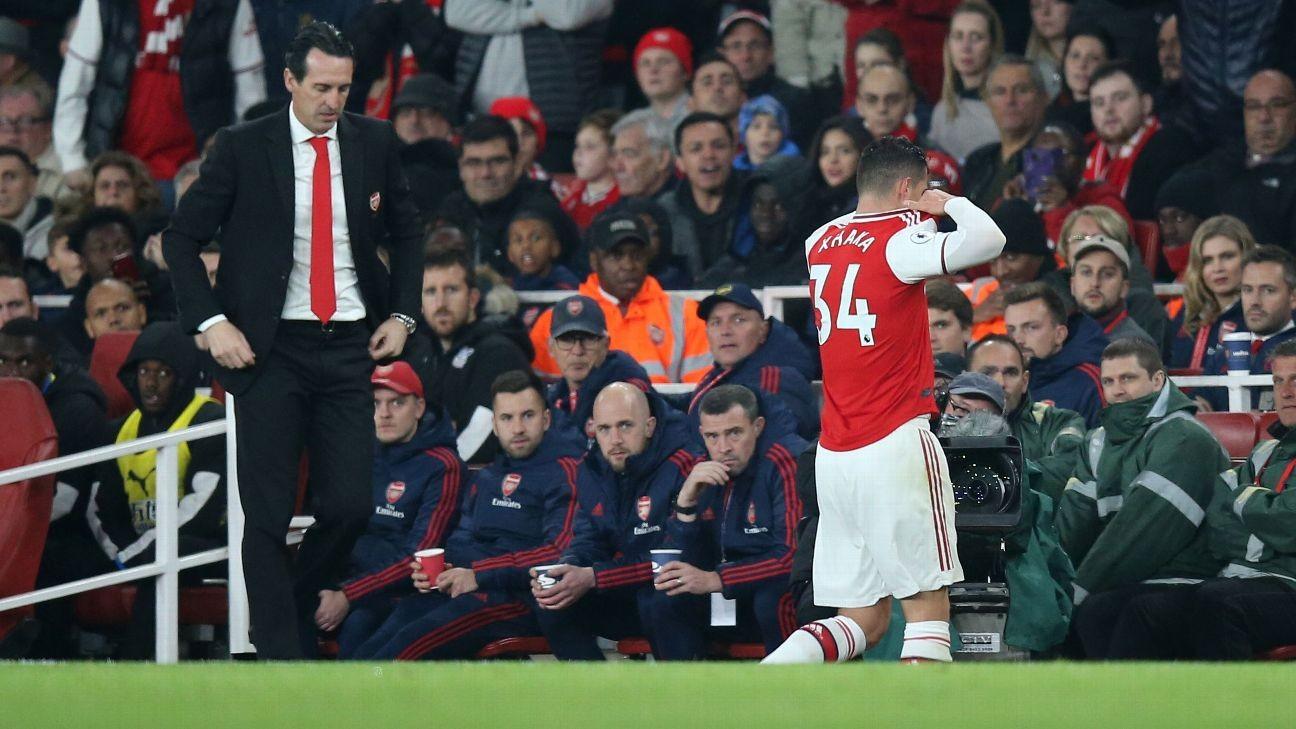 Granit Xhaka opted out of Arsenal return - Unai Emery