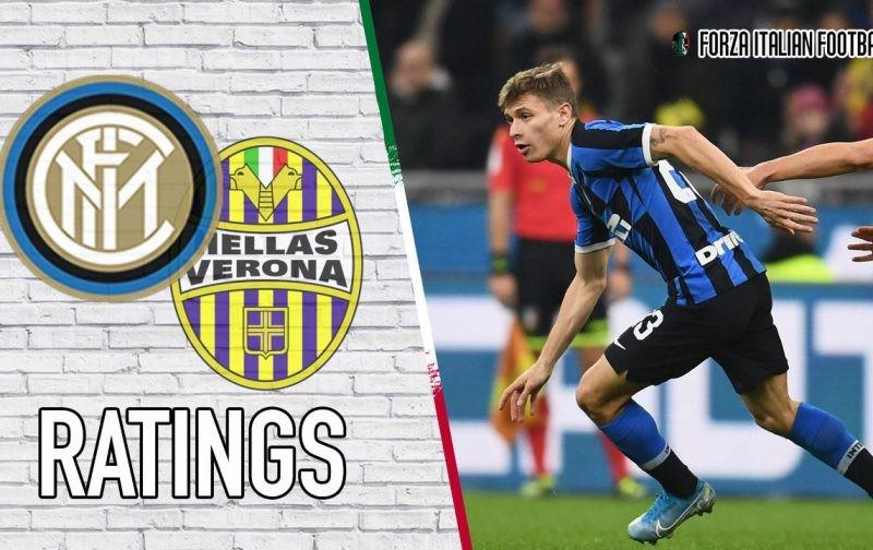Inter player ratings: Brilliant Barella rescues Nerazzurri against Hellas Verona
