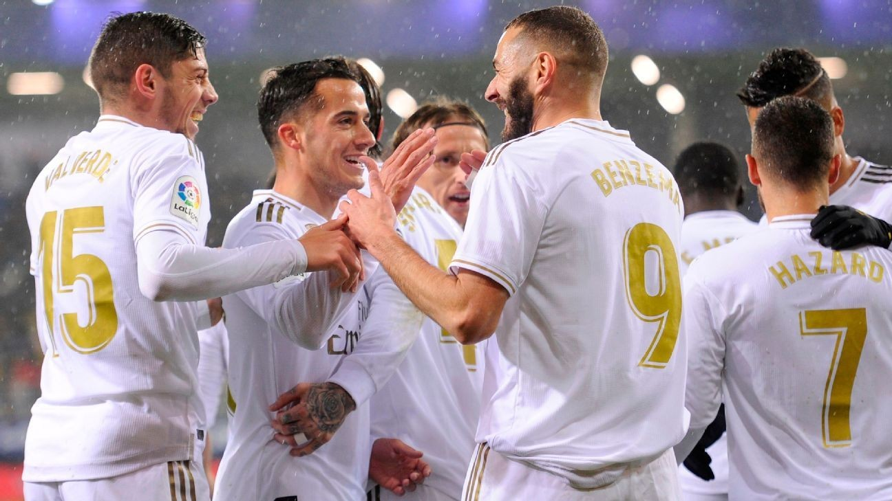 Karim Benzema double helps Real Madrid cruise past Eibar