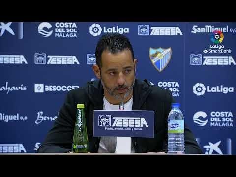 Rueda de prensa de Baldomero Hermoso tras el Málaga CF vs CF Fuenlabrada (0-0)
