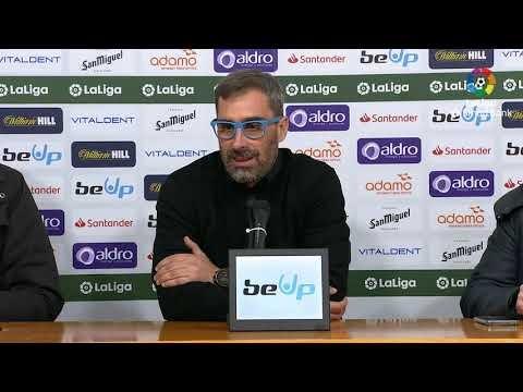 Rueda de prensa de Jon Pérez Bolo tras el Real Racing Club vs SD Ponferradina (2-2)