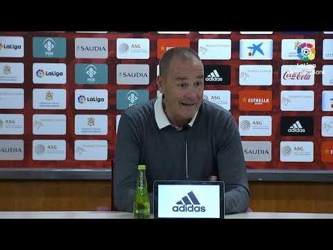 Rueda de prensa de Víctor Fernández tras el UD Almería vs Real Zaragoza (1-1)