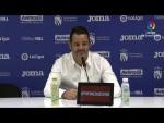 Rueda de prensa de  Baldomero Hermoso tras el CF Fuenlabrada vs SD Huesca (3-2)