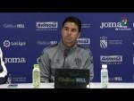 Rueda de prensa de  Míchel tras el CF Fuenlabrada vs SD Huesca (3-2)