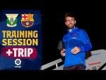 Last workout and trip to Madrid ahead of LaLiga visit to Leganés