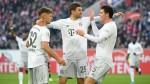 Bayern Munich thrash Duesseldorf to move within a point of the top