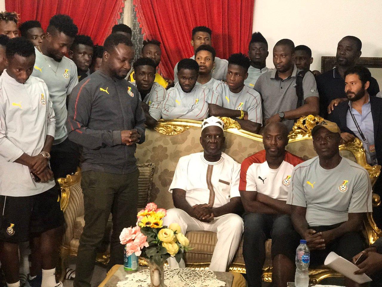 U-23 Afcon: Black Meteors show appreciation to Ghana Ambassador in Egypt