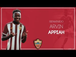 Arvin Appiah looking forward to impressing new Almeria manager Guti when they take on Zaragoza this weekend
