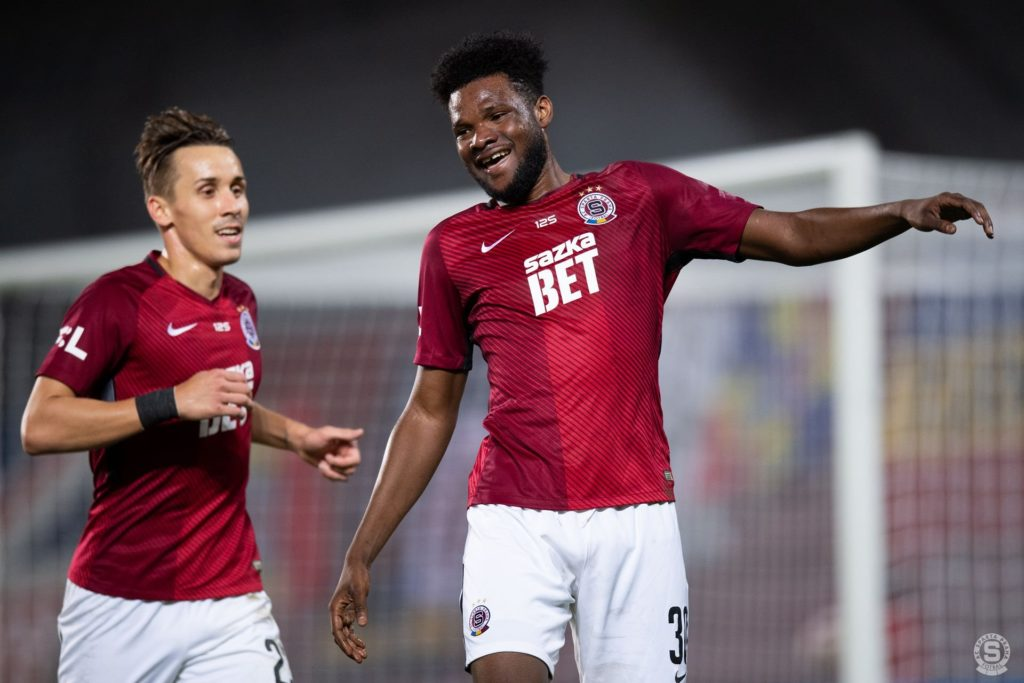Watch Benjamin Tetteh's strike that earned Sparta Prague a crucial point in draw against Budejovice