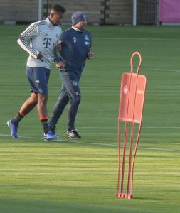 Bayern Munich interim manager Hansi Flick holds special training session with Jerome Boateng