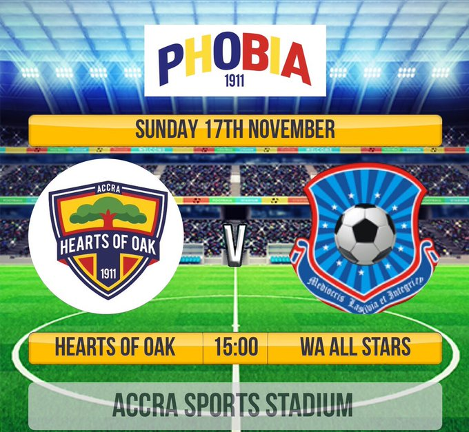 Hearts of Oak set to battle Wa All Stars this Sunday