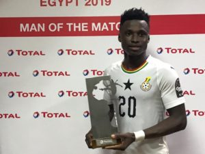 Winger Evans Mensah delighted after being named 'Man of the Match' in Cameroon game