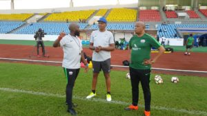 2021 AFCON Qualifier: South Africa hold first training session at the Cape Coast Stadium ahead of Ghana game