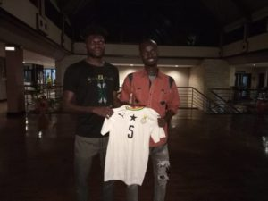 Awal the Pitch invader grateful to meet Partey