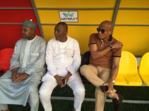 Dr. Mustapha Hamid leads a delegation to offer Black Stars support