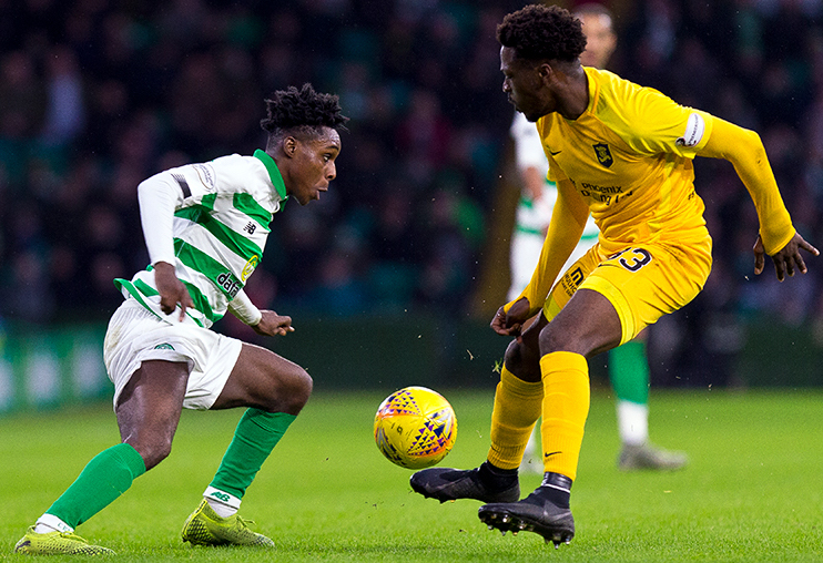 Ghanaian defender Jeremie Frimpong earns rave reviews with Celtic performance against Livingston