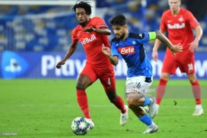 Ghanaian midfielder Majeed Ashimeru features in RB Salzburg's draw against Napoli in UCL