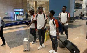 Ghana's Black Meteors arrive in Egypt ahead of U-23 AFCON