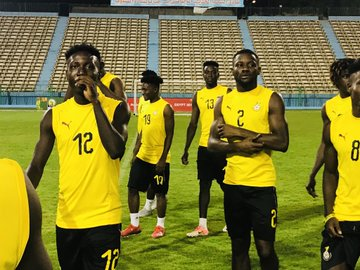 CAF U-23 AFCON: Ghana's Black Meteors train for the last time ahead of South Africa meeting