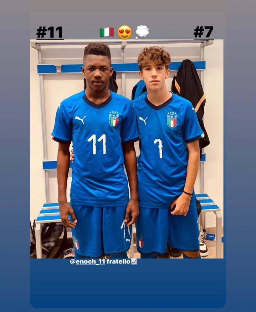 Meet 15 year-old Enoch Owuso who was called up to Italy's U15 team