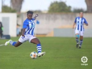 VIDEO: Watch Princella Adubea's goal for Sporting de Huelva against Madrid CF