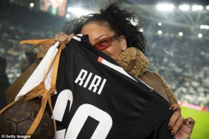 Popstar Rihanna watches Partey and his Atletico Madrid side lose to Juventus in UCL