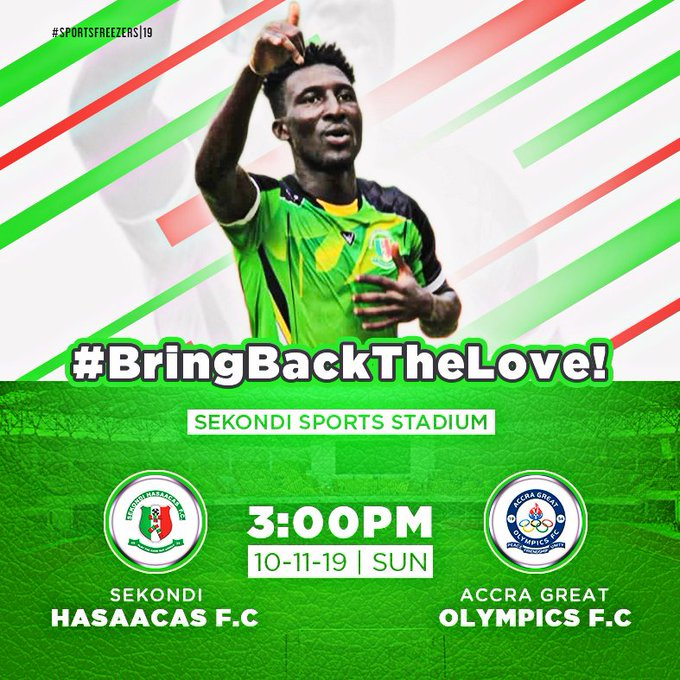 Sekondi Hasaacas line up friendly with Great Olympics this weekend