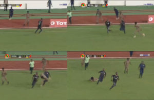 VIDEO: Pitch invader in Ghana, South Africa clash
