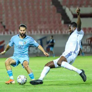 Ghana international Vincent Atingah in action as Al Shabab lose to Al Nasr